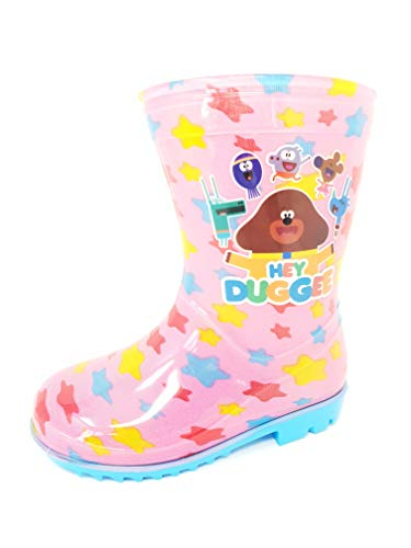 Licensed Hey Duggee Childrens Kids Wellington Boots Rain Wellies Boys Girls Mid Calf Snow Boots