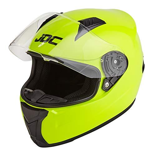JDC Casque Moto Intégral - Prism - Jaune Fluorescent - M