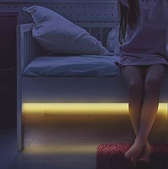 led bettbeleuchtung nachtlicht mit bewegungssensor 2er set beleuchtung. Black Bedroom Furniture Sets. Home Design Ideas