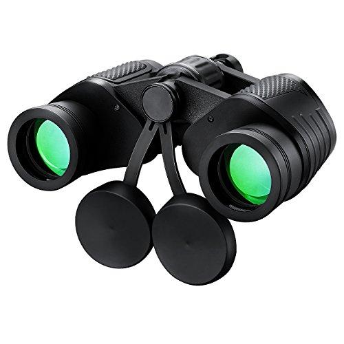 Mpow 8 x 35mm Zoom Télescope Optique légère Pliante et Portable Jumelle Binocular avec Chiffon Propre et Sac pour Golf, Camping, Voyage, Randonnée, Pêche, Observation des Oiseaux, Concerts