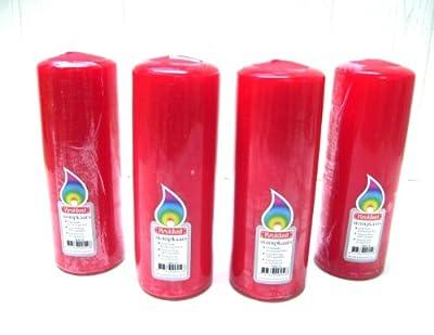 Großer Stumpen in ROT 200x70mm Weihnachten !!! Kerze Kerzen