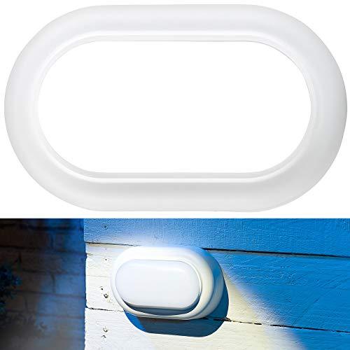 Luminea Wandlampe Außen LED: Stoßfeste LED-Feuchtraumleuchte, 540 Lumen, 8 Watt, 4000 K, IP54,...