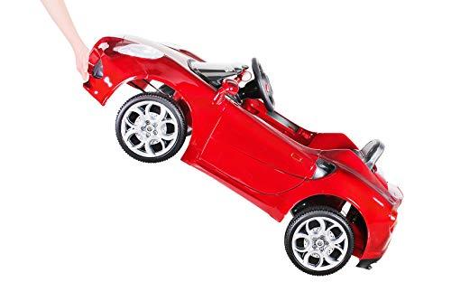RC Auto kaufen Kinderauto Bild 5: Kinder Elektroauto ALFA Romeo 4c Lizenziert Original Kinderelektroauto Kinderfahrzeug Auto (Weinrot)*