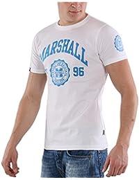 6568ea66ae0e US Marshall Original Herren Kurzarm Round-Neck T-Shirt Since 1996 White