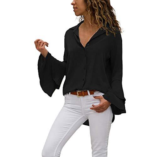 Bluse Damen Julywe Damen Flare Sleeve Shirts Beiläufige Feste Bluse Mode 2018