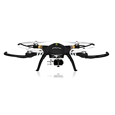 Veho Muvi Q-Series Q-1 Drone | Professional Aerial UAV Quadcopter | Advanced 3-Axis Gimbal | Follow Me Tracker | 2.4GHz Remote Control - Black (VQD-002-Q1) from Veho