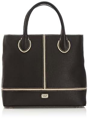 Osprey London Womens Lido Grab Top-Handle Bag 1131-71 Black/Ivory