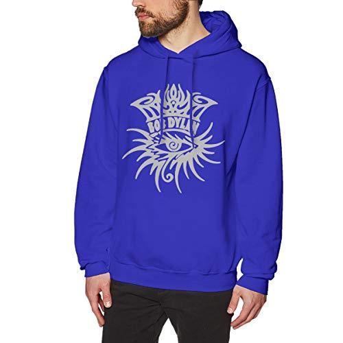 James Home Herren BobDylan-Eye Logo Pullover Hoodie Langarm Sweatshirt Hoodies für Herren Jungen Kleidung Outdoor Mantel Tops Blau 3XL Oval Logo Sweatshirt