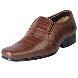 Bata Mens Tan Formal Slip On 851-4626-42