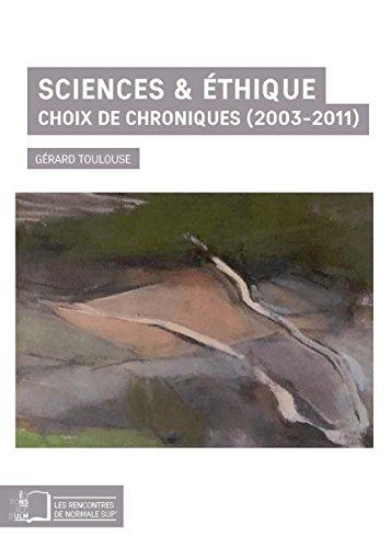 Sciences & éthique (Les Rencontres de Normale Sup')