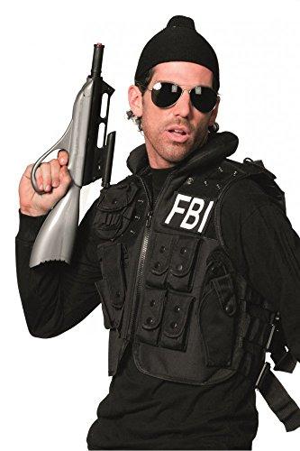 Agent Kostüm Weste Fbi (Hochwertige FBI Weste und Pilotenbrille Erwachsene Gr. M/L Secret Agent)