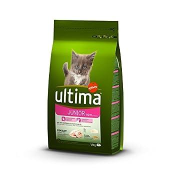 Ultima Croquettes pour Chat Junior Poulet et Riz 1,5 kg