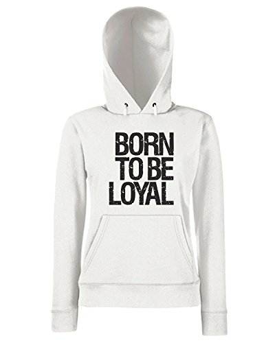 T-Shirtshock - Sweats a capuche Femme WC0223 Born To Be Loyal Blanc