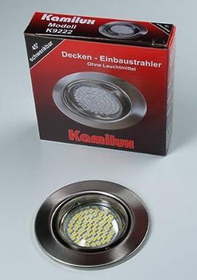 10 x SMD LED Einbauleuchte edelstahl-gebürstet 60er LED-Spot Tom 230V Warmweiss von Kamilux GmbH - Lampenhans.de