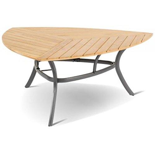 hartman tisch triangular 150 x 150 x 150 cm teakholz aluminium gartenmoebel set. Black Bedroom Furniture Sets. Home Design Ideas