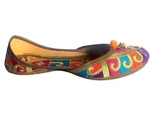 Punjabi Jutti Chaussures Khussa-pins Pour Party, Dote Vêtements Jooti Multicouleur (multicolore)
