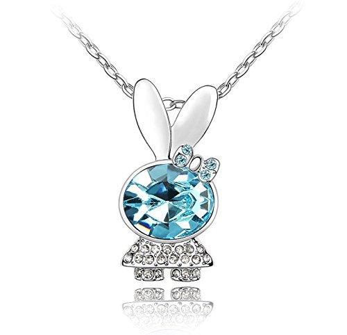 Lily Jewelry cuye Coniglio Collana cristallo Swarovski Elements per le donne