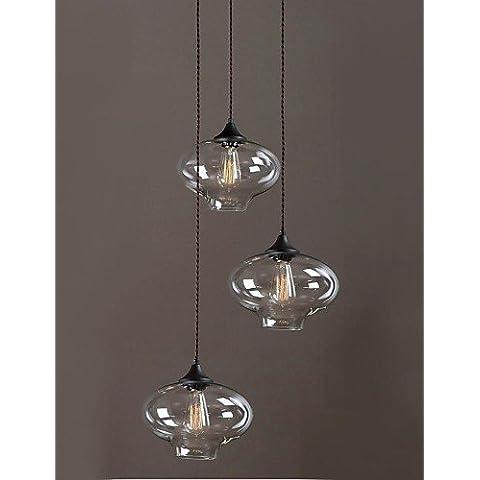 Fx@ 40W Cosecha / Campestre Mini Estilo Pintura Vidrio Lámparas Araña Dormitorio / Comedor / Habitación de estudio/Oficina / Hall , 220-240v