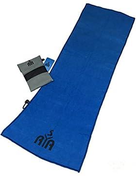 YISAMA Toalla de Microfibra Compacta,Secado Rapido Ideal para Gimnasio,Camping,Tenis,Padel,Bicicleta y Golf Color...