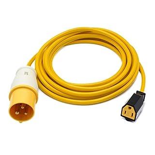 IP44 110volt 16Amp Plug to NEMA USA Mains Socket Fly Lead. Power Tool American Appliance Hookup Adaptor for Use on Stepdown, Industrial, Generator (5 Metre)