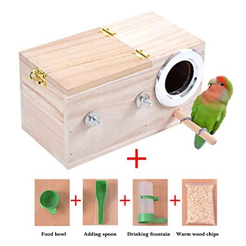 juqilu Gabbia per nidificazione di Animali Domestici Gabbia per Uccelli nidificanti Casetta per nidi di Avifauna per pappagallini pappagallini Parrocchetto Cockatiel Cacatua Gabbia di piccioncini