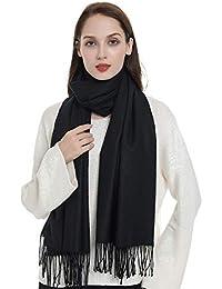 LeKuni Écharpe Châle Cachemire Femme Homme Unisex, Foulard couleur pure, écharpe en cachemire, b1987848587