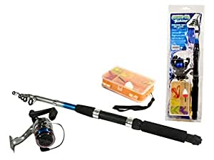 AK Sport 0778003 Gof Canne à pêche Noir