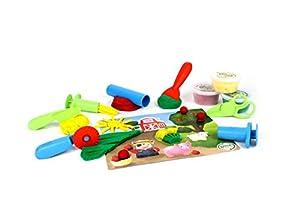 Green Toys- Set de Tapetes de Juego y Herramientas de Masa, (DMT1-1245)