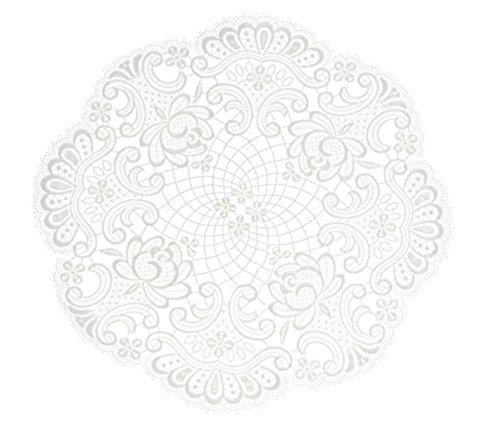Deckchen Spitzendecke Spitze 30 cm Rund Weiss