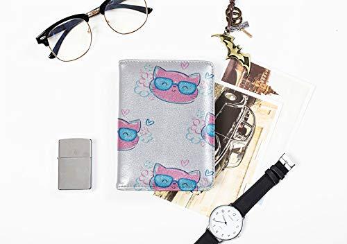Pass Fall Für Mädchen Charming Brille Frendly Cat Passinhabers Abdeckung Fall Für Frauen Männer Reisegepäck RFID Sperrung Passport Wallet Large Passport Case