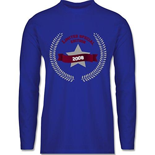 Shirtracer Geburtstag - 2008 Limited Special Edition - Herren Langarmshirt  Royalblau