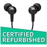 (Renewed) JBL C100SI in-Ear Headphones with Mic (Black)