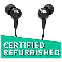 (Certified REFURBISHED) JBL C100SI in-Ear Headphones with Mic (Black)