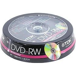 Lot de 30 disques DVD-RW Vierges TDK (4 x 120 Min 4,7 Go) vidéo/données DVD réinscriptibles