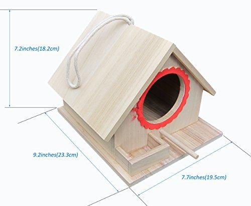 FITOOL casetta per uccelli, nido per uccellini, montata (pronta all' uso), per grandi uccelli like pappagallo, piccione colomba, nonché piccoli uccelli come Sparrow, tit LARK, ecc.
