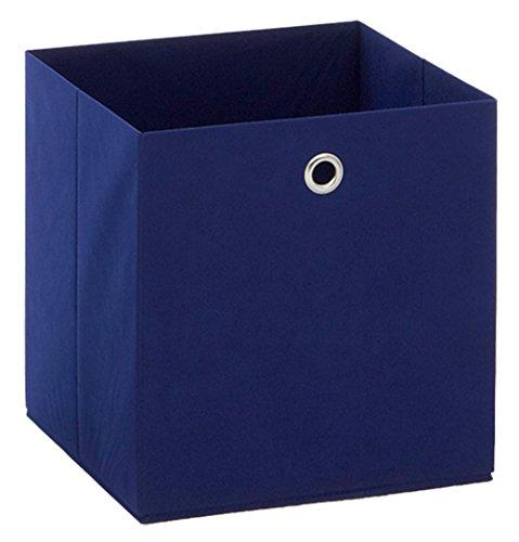 Boîte pliable en intissé coloris bleu, L 32 X H 32 X P 32 cm -PEGANE-