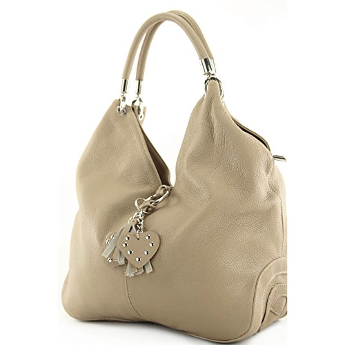 modamoda de de - italiana bolso comprador bolso de cuero 330, Color:Beige