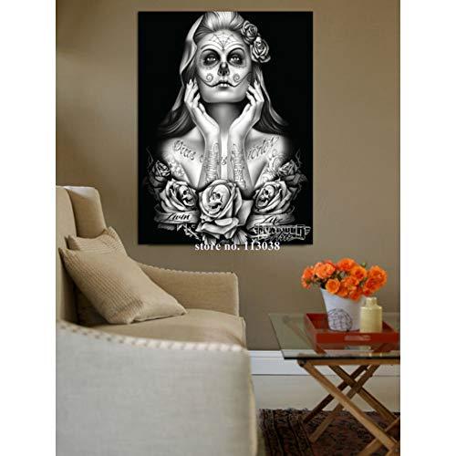 (YOUHUAGE Versand Framed Printed Zucker schädel mädchen Gruppe Leinwand Malerei Wohnzimmer Decor Print Poster Wand Bild,No Frame,208 x 146cm (6.8x4.8 ft) - Can be Customized)