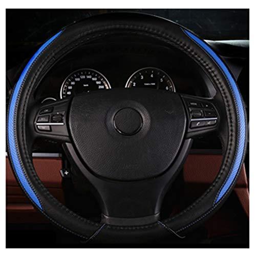 ADHW Coprivolante, in Pelle Microfibra 36-50 cm / 14.2-19.7 Pollici Uso annuale per Veicoli di Grandi Dimensioni, Piccoli Camion/Autobus/SVU (Colore : Blu, Dimensioni : 38cm)