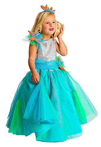 Prinzessin Kostüm für Mädchen (Meeres Königin Des Kostüme)