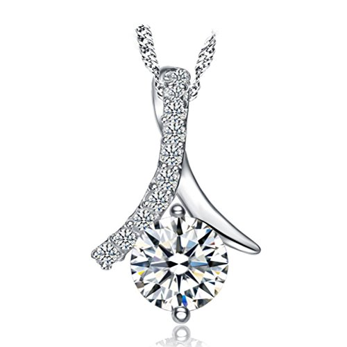 sterling-silver-cubic-zirconia-diamond-heart-pendant-necklace-18-inches-for-women
