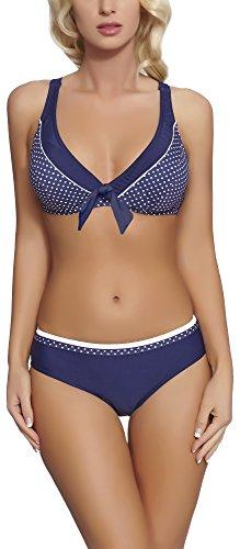Verano Damen Bikini 2V3T1 (Marineblau, 40) -