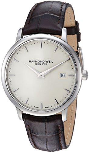 Raymond Weil Herren Analog Quarz Uhr mit Leder Armband 5488-STC-40001