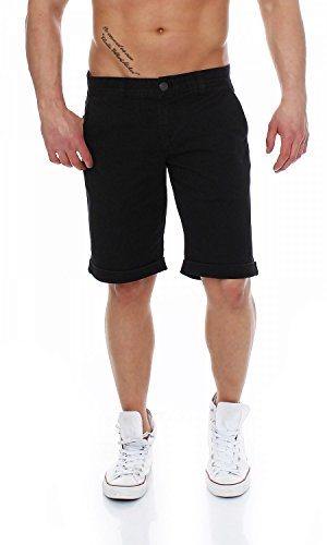 Big Seven Mason Chino Shorts Herren Bermuda, Farbe:Deep Black, Hosengröße:W42 - China Farben