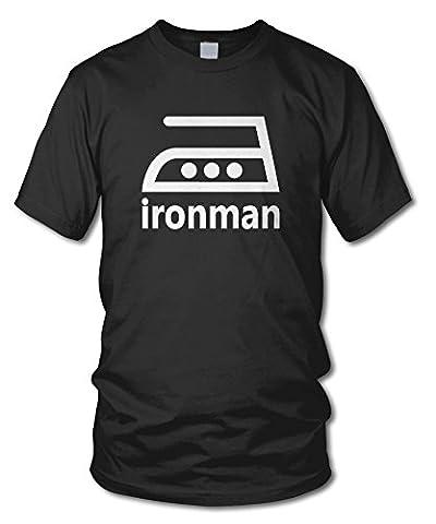 IRONMAN - FUN T-Shirt - KULT - Schwarz - Größe XXL