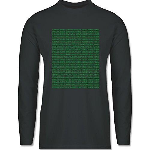 Shirtracer Programmierer - Binärcode - Herren Langarmshirt Dunkelgrau