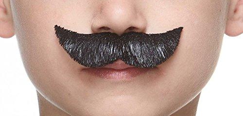 Mustaches Selbstklebende Kleiner Spy Fälschen Schnurrbart für Kinder Schwarz Glänzender Farbe