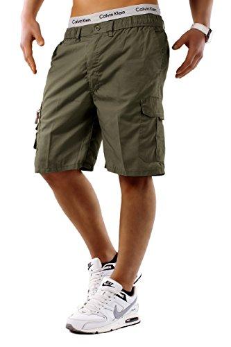 Uomo shorts nuovo freemen id748, farben:khaki;größe-shorts:xxl