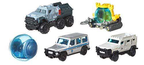 Jurassic World Matchbox Pack de 5 Coches Juguetes, Modelos...