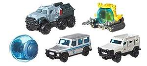 Jurassic World Matchbox Pack de 5 Coches Juguetes, Modelos Surtidos (Mattel FMX40)
